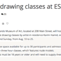 Life Drawing Classes at ESMoA El Segundo